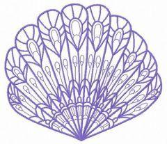 Sea shell machine embroidery design 12