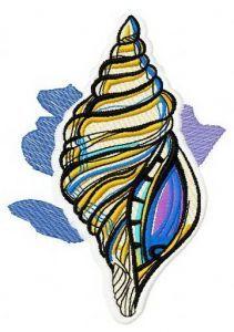 Sea shell machine embroidery design 3