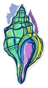 Sea shell 5 embroidery design