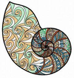 Sea shell 7 embroidery design