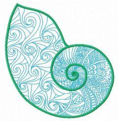 Sea shell 8 embroidery design