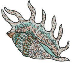 Sea shell 9 embroidery design