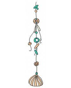 Sea shell decoration 6 embroidery design