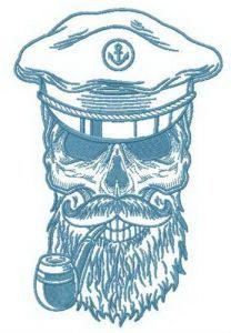Sea-wolf embroidery design