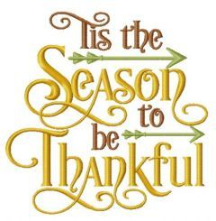 Season to be thankful embroidery design
