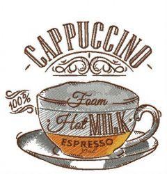 Secret of cappuccino embroidery design