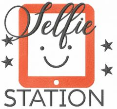Selfie station free embroidery design