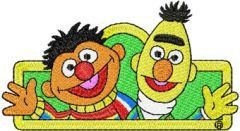 Ernie and Bert embroidery design