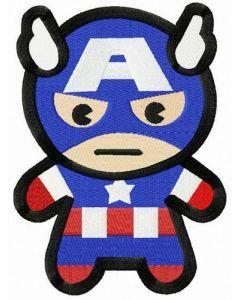Severe Captain America embroidery design