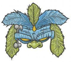 Shaman mask embroidery design