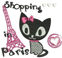 Shopping in Paris embroidery design 2