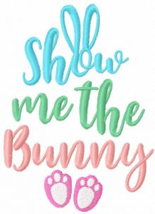 Show me the bunny embroidery design