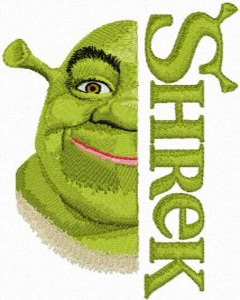Shrek with Logo embroidery design