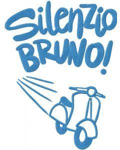 Silenzio Bruno embroidery design