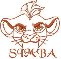 Simba 7 embroidery design