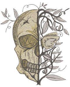 Skull Always Spring embroidery design