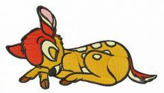 Sleeping Bambi embroidery design