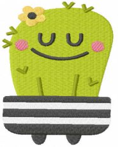 Sleeping cactus free embroidery design