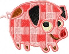 Small Pig machine embroidery design 1