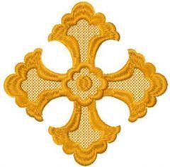 Small cross embroidery design