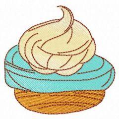 Small cupcake embroidery design