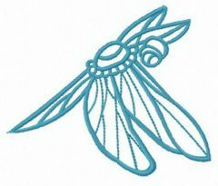 Small dragonfly free embroidery design