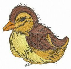 Small duckling embroidery design