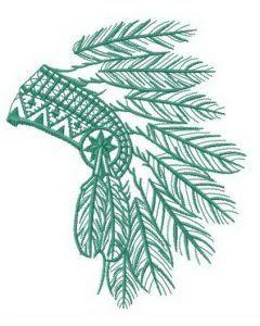 Small headdress embroidery design