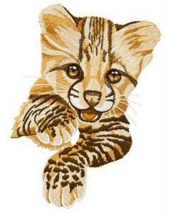 Small predator embroidery design