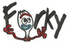 Smart Forky embroidery design
