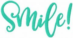 Smile free embroidery design