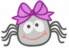 Smiling spider embroidery design