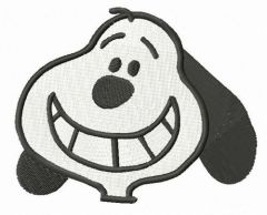 Smiling Snoopy embroidery design