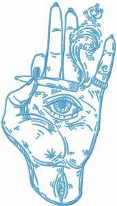 Smoking hand embroidery design