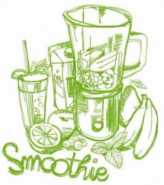 Smoothie 2 embroidery design