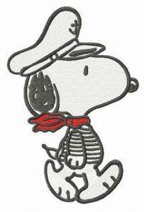 Snoopy the captain embroidery design