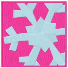 Snowflake box free embroidery design