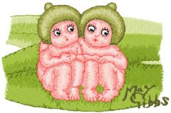 Snugglepot and Cuddlepie Together embroidery design