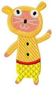 Sock doll hamster embroidery design