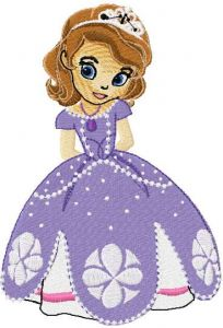 Sofia the First 8 embroidery design