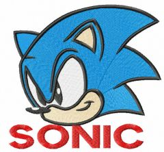 Sonic embroidery design