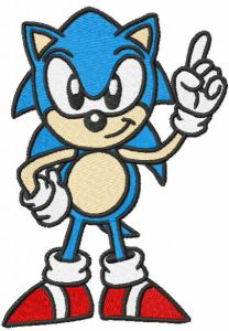 Sonic first embroidery design embroidery design