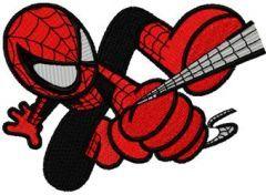 Spider Boy embroidery design