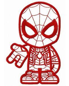Spiderman teen embroidery design