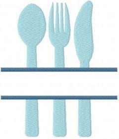 Split silverware trio free embroidery design