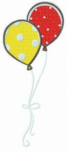 Spotted balloons free embroidery design
