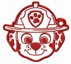 Spotted firefighter embroidery design
