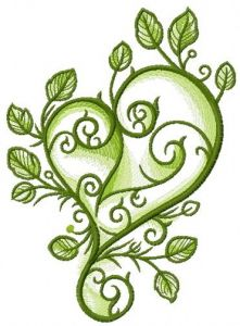 Spring love embroidery design