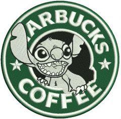 Starbucks coffee Stitch embroidery design