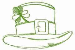 St. Patrick's day hat embroidery design